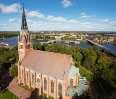 Central Church of Pori Western Coast, I Want To Travel, Place Of Worship, Finland, Big Ben, Around The Worlds, Europe, Cathedrals, Architecture