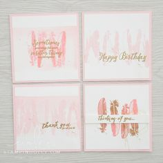 Stampin' Dolce: Pink Feather Together note cards - Fancy Friday Blog Hop
