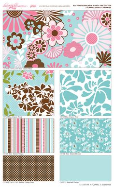 "New Riley Blake fabric - ""Dainty Blossoms"""