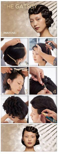DIY Halloween Hair Inspiration: Gatsby Beauty