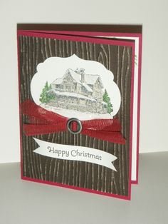 Christmas Lodge - it sparkles with lots of Dazzling Diamond glitter for Snow on the lodge