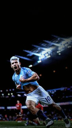 Kun Agüero Football Icon, Football Quotes, Best Football Players, Football Is Life, Football Boys, Soccer Players, Manchester City Wallpaper, Sergio Aguero, Kun Aguero