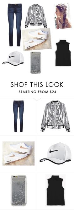 """Nike outfit"" by sovuthyandbre ❤ liked on Polyvore featuring DL1961 Premium Denim, Sans Souci, NIKE and Agent 18"
