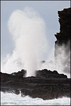 """""""The Blowhole"""" - The Halona Blowhole, Oahu, Hawaii."""