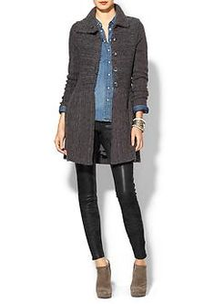 Thinking CAbi pieces here, fall '13 Sweater Coat and Ricky Legging with vintage CAbi tavern Shirt.