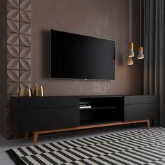 Tv Rack Design, Tv Wall Cabinets, Tv Unit Furniture, Tv Stand Designs, Modern Buffet, Living Room Tv Unit Designs, Tv Wall Decor, Refurbished Furniture, Interior Exterior
