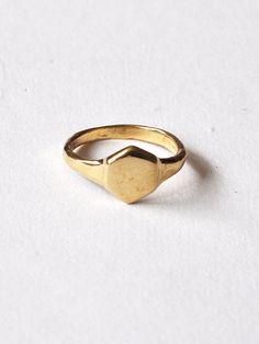 MILLE | Odette Hex Signet Ring