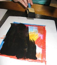 DIY scratch art. Fun and easy activity to do with kids on long summer days #make #art #ideas skiptomylou.org