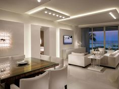 Minimál egylégterű étkező-nappali - konyha / étkező ötlet