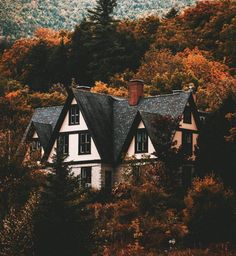 Ideas House Exterior Cozy Dream Homes Beautiful Homes, Beautiful Places, Autumn Cozy, Autumn Forest, Forest Rain, Early Autumn, Fall Winter, House Goals, Autumn Inspiration