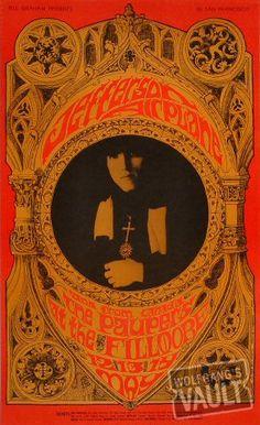 Jefferson Airplane Poster Fillmore Auditorium (San Francisco, CA) May 12, 1967.