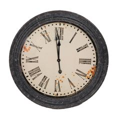 Adorn your walls with this traditional style working clock to add depth and dimension to your living space! This clock is made of a rustic black metal frame and