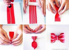 Sugar art - striped bow