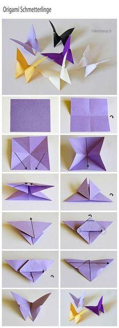 ORİGAMİ KELEBEK YAPMAK RESİMLİ ANLATIM - https://kendinyapsana.com/origami-kelebek-yapmak-resimli-anlatim/
