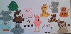 LOT OF 14 ZOO ANIMAL TINY TREASURES PAPER PIECINGS BY MY TEAR BEARS *KIRA*