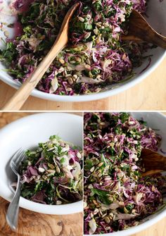 fall vegetable slaw with hot + sweet ginger dressing