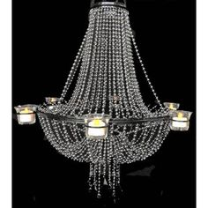 6 Candle Empire Chandelier - Steel Ball Chain [ZHLL602-STE Empire Chandelier] : Wholesale Wedding Supplies, Discount Wedding Favors, Party Favors, and Bulk Event Supplies