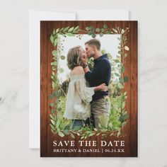 Watercolor Eucalyptus Wood Save The Date Card   fun wedding invitations, amazing wedding invitations, invitations cricut #invitationsuite #invitationph #invitationv, 4th of july party Bachlorette Invitations, Fun Wedding Invitations, Save The Date Photos, Save The Date Cards, Engagement Announcement Cards, 4th Of July Party, Invitation Suite, Engagement Photos, Cricut