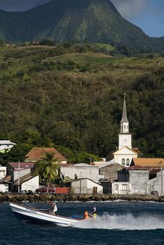 "Fishermen in St Pierre, once known as ""little Paris of the Caribbean"", Martinique Island (by Marie-Marthe Gagnon)."