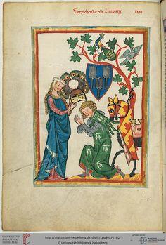 Codex Manesse, Der Schenk von Limpurg, Fol 082v, c. 1304-1340