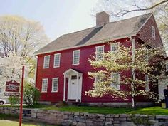 Red Saltbox in the Spring