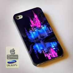 "Cinderella Castle Disney Magic Kingdom Print On Hard Plastic For iPhone 4/4s, Black Case  This case is available for: iPhone 4/4S iPhone 5/5S iPhone 6 4.7"" screen Samsung Galaxy S4 Samsung Galaxy S5 i"