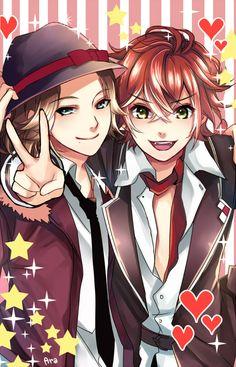 They are so cute.....  Diabolik Lovers: Laito & Ayato Sakamaki