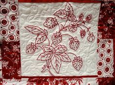 KNOT-Y EMBROIDERY LADY: Red Work Strawberries