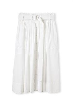Snap Through Midi Skirt