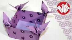 Même si ce pliage n'est pas un origami au sens véritable du terme puisqu'il fait appel à quelques coups de ciseaux dans les premières étapes, j'aime beaucoup...