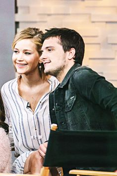 Jennifer Lawrence and Josh Hutcherson of 'The Hunger Games' are guests on 'Good Morning America,' 11/13/14, airing on the ABC Television Network