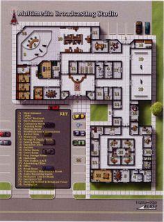 Multimedia Broadcasting Studio (975×1324); shadowrun, floorplan