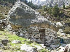A toue (shepherd's shelter) in the Pyrénées. Submitted by...