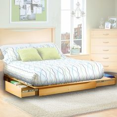 twin platform bed with shelves.  The rest is unspeakable.
