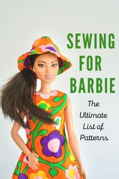 Barbie Sewing Patterns, Sewing Barbie Clothes, Barbie Dolls Diy, Vintage Barbie Clothes, Sewing Patterns For Kids, Barbie Dress, Doll Clothes Patterns, Doll Patterns, Sewing Dolls