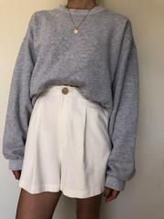 Pre Order Na Nin Raw Silk Oliver Shorts - M / Cream