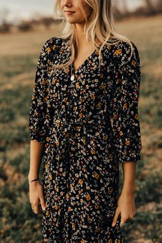 Black Floral Maxi Dress | ROOLEE Midi & Maxi Dresses, dress, clothe, women's fashion, outfit inspiration, pretty clothes, shoes, bags and accessories