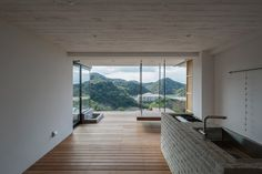 Osaka studio Design designed this weekend retreat in western Japan to accommodate activities that are usually impossible in a city house Minimalist Architecture, Beautiful Architecture, Interior Architecture, Online Architecture, Contemporary Architecture, Villa Design, House Design, Weekender, Weekend House