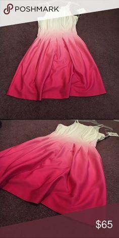 Peplum Summer Dress BRAND NEW! Never been worn Summer dress. Calvin Klein Dresses Midi