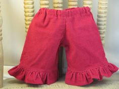 Berry Ruffle Corduroys for Waldorf Inspired by sistersdollclothes, $7.00