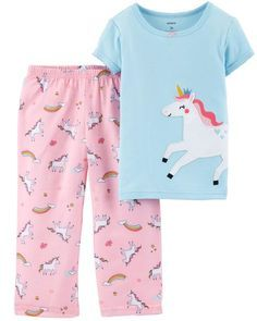 2 SETS CARTERS Baby Boys 12 18 Month SURF DOG Applique STRIPE PAJAMAS Summer NWT