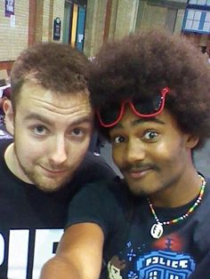 Tomska and I looking suaaave as something that's suave.