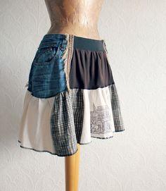 Knee Length Stretch Waist Women Ruffle от BrokenGhostClothing