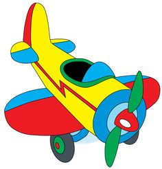 Toy Train Clip Art | Clip Art of a Toy Airplane
