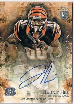 cool JEREMY HILL RC 2014 Topps Inception Rookie Auto #27 BENGALS NM-MT - For Sale View more at http://shipperscentral.com/wp/product/jeremy-hill-rc-2014-topps-inception-rookie-auto-27-bengals-nm-mt-for-sale/
