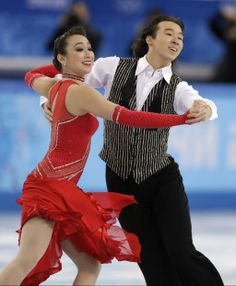 Cathy Reed and Chris Reed of Japan compete in the ice dance short dance figure skating competition at the Iceberg Skating Palace during the ...
