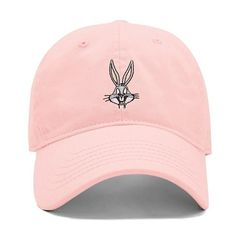 Forever21 Bugs Bunny Dad Cap (34 BRL) ❤ liked on Polyvore featuring accessories, hats, cap, head, forever 21, embroidered hats, cap hats, forever 21 hats and brim cap