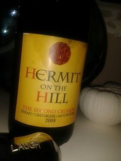 Hermit on the Hill 2008. Rhone blend, Syrah, Grenache, Mouvedre. Wine cellar selection. Chaka's Rock, South Africa.