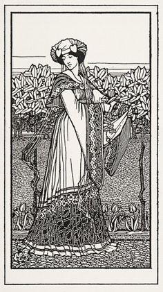 WYLIE, Jessie. [Portrait of a Lady].  An original illustration, c.1910.