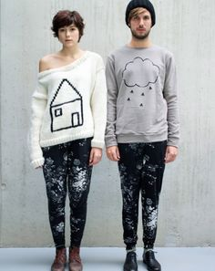 their sweatshirts